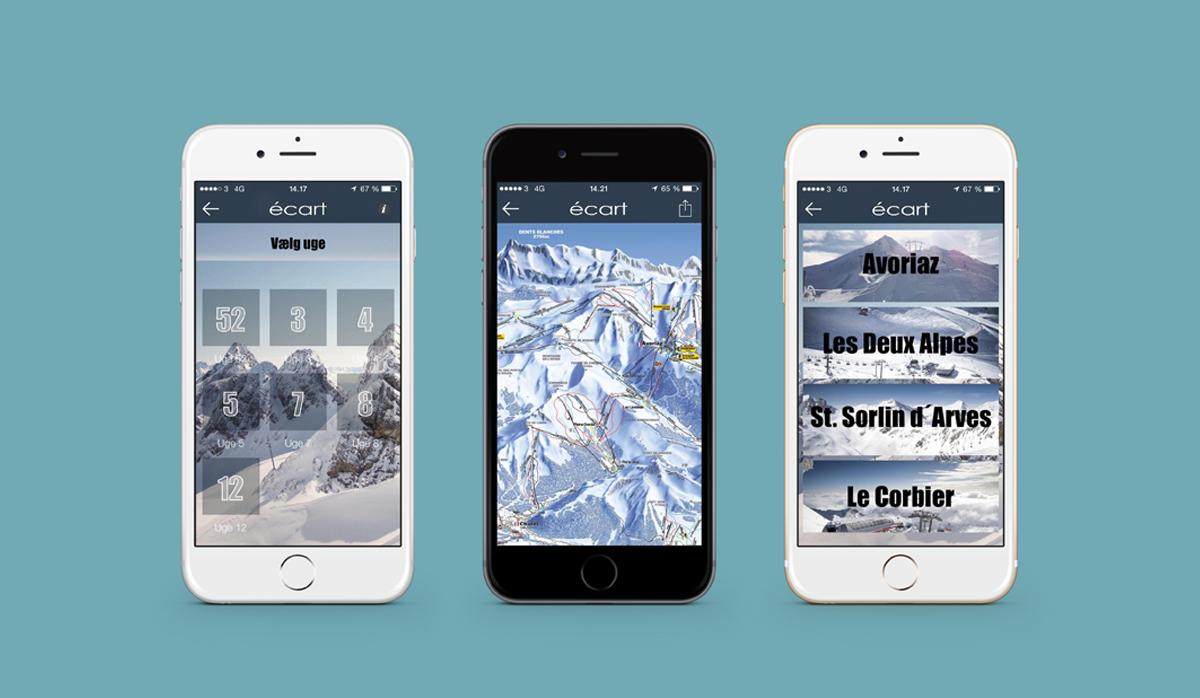 écart ski tours app