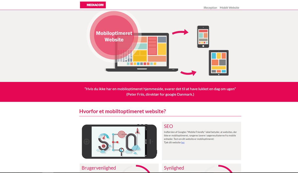 MediaCom Mobile – Produkt website