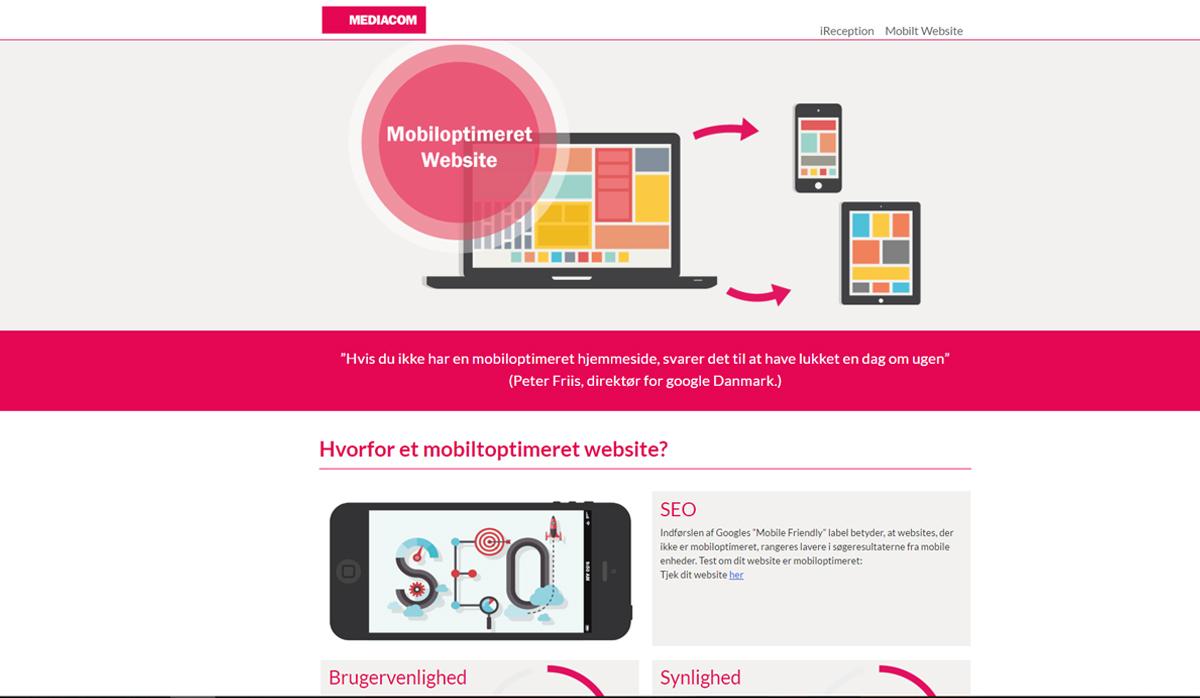 MediaCom Mobile – Produkt website