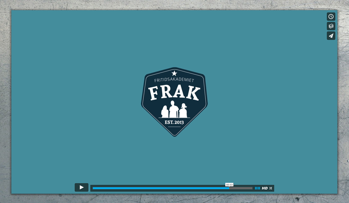 FRAK logo animation